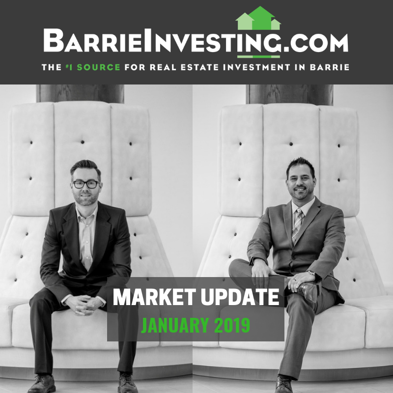 Barrie Investing Market Update January 2019