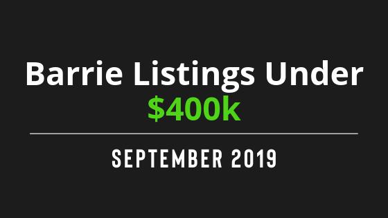 Barrie Listing Under $400k
