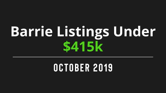 Barrie Listings Under $415k