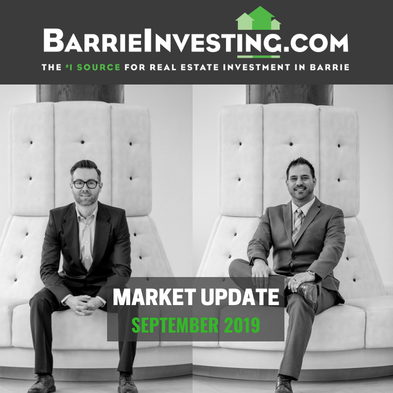 Barrie Real Estate Market Update September 2019