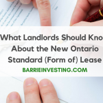 Ontario Standard Form of Lease