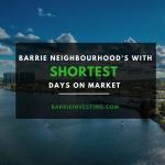 Barrie Neighbourhood's With Shortest Days on Market - BarrieInvesting.com