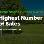 Barrie Neighbourhoods With the Highest Number of Sales for 2018